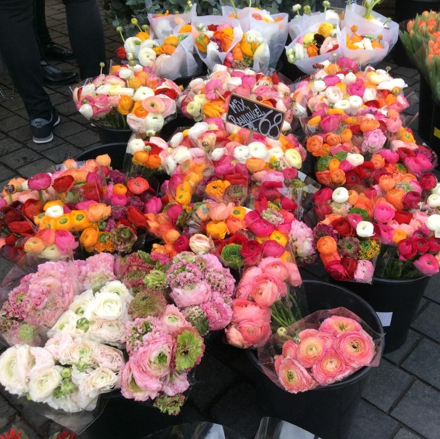 Kukkia torilla