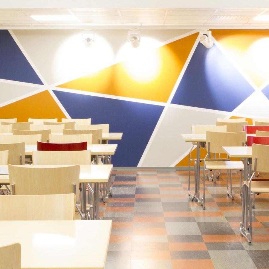 Opiskelija- ja henkilöstöravintola Kisälli Heinolassa.