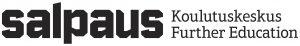 Musta-valkoinen logo toimistokäyttöön ja tulostettavaksi.