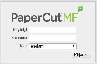 papercut tilinhallintasivusto