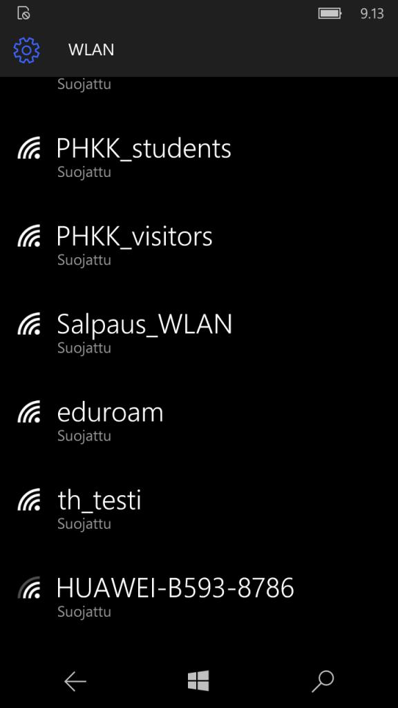 win7/8 phone wlan valitse salpaus-wlan