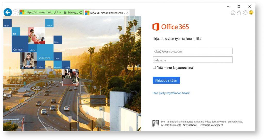 Kirjautuminen Office 365:een - Koulutuskeskus Salpaus