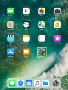 Näkymä iPadin työpöydästä