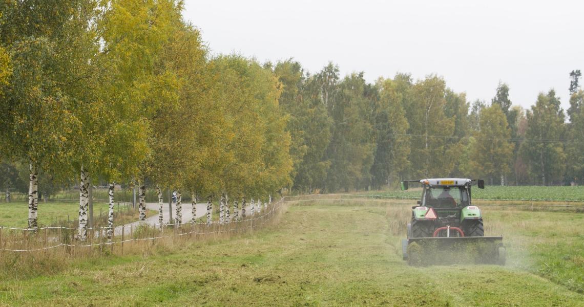 Traktori peltotöissä
