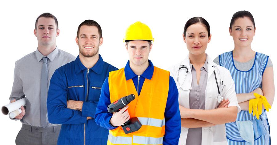 Työntekijöitä