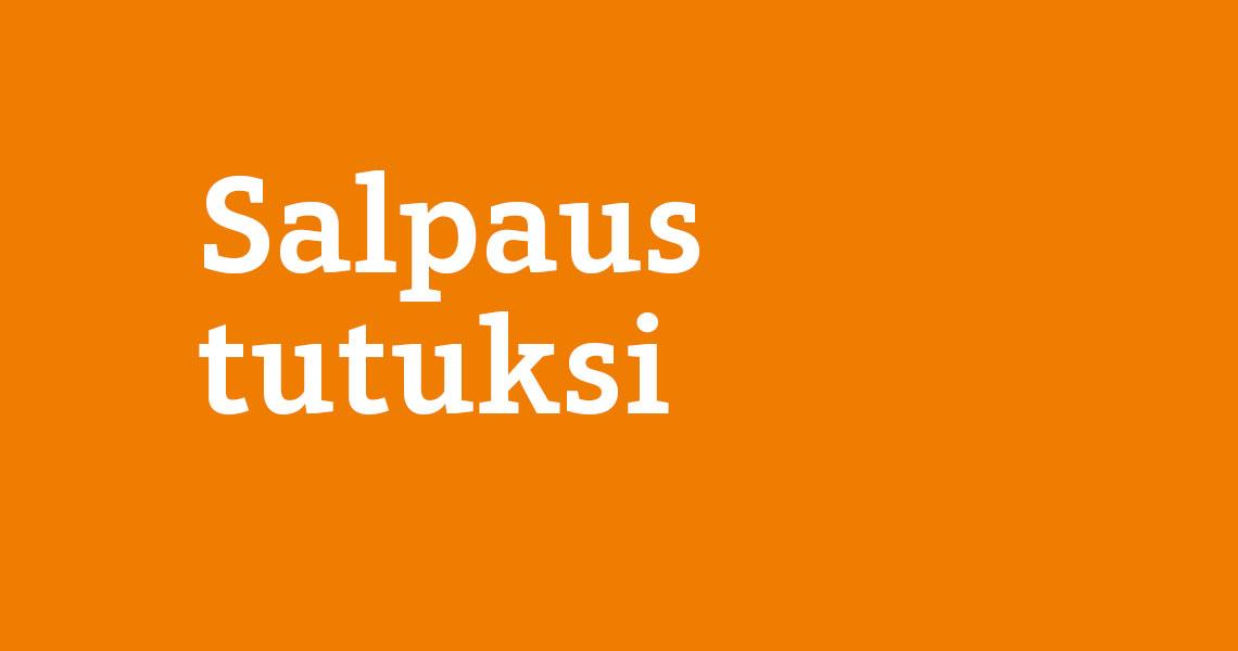 Salpaus tutuksi -tapahtuma, teksti oranssilla taustalla