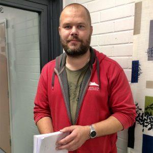 Työvelmentajaopiskelija Timo Paasonen.