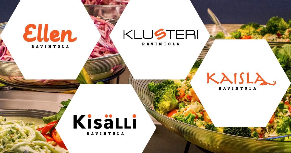 Uusien ravintoloiden nimet ja logot