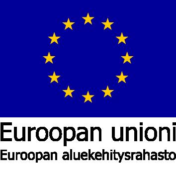 Euroopan unioni, Euroopan aluekehitysrahaston logo.