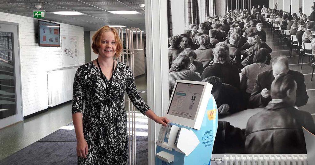 Automaattia testataan Svinhufvudinkadulla.