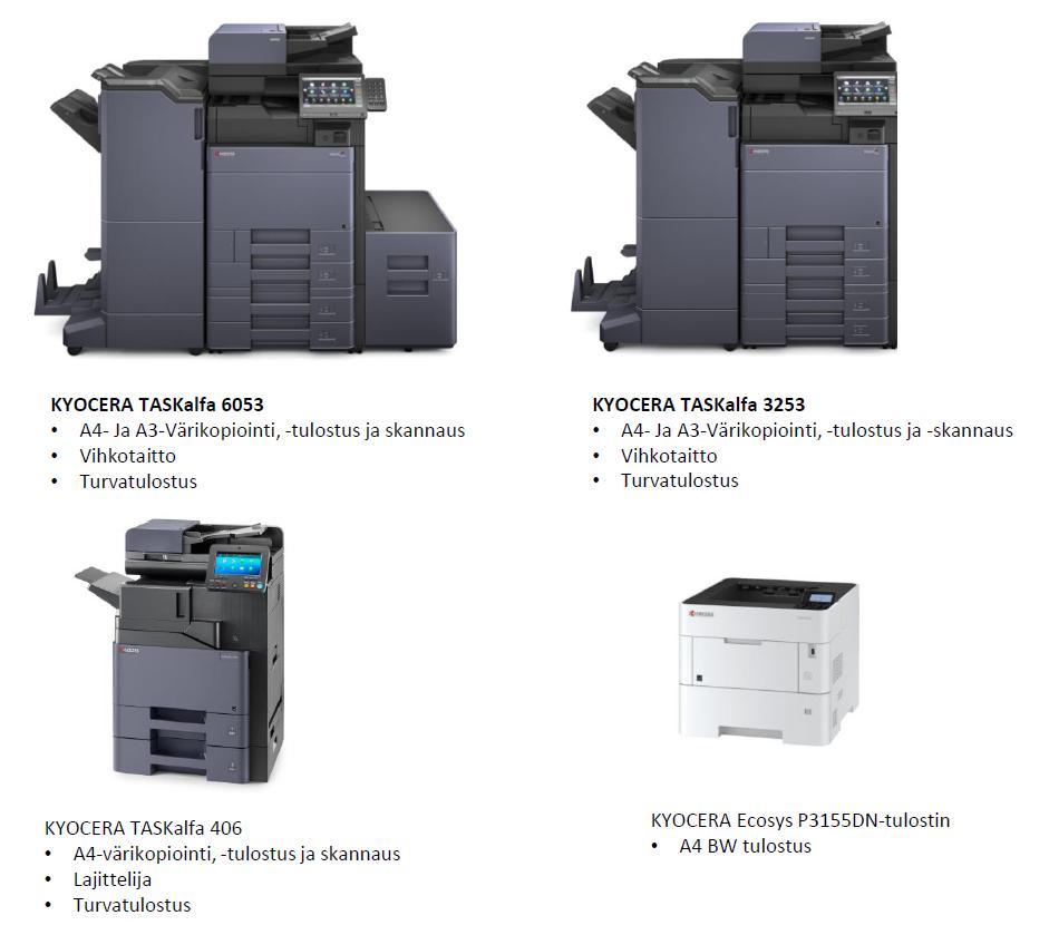 Tulostin mallisto